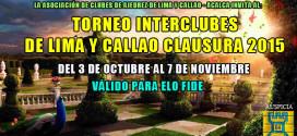 Lima, Per.- TORNEO INTERCLUBES DE LIMA Y CALLAO CLAUSURA 2015