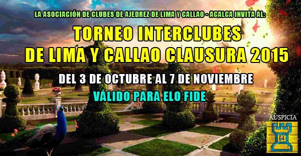 TORNEO INTERCLUBES DE LIMA Y CALLAO CLAUSURA 2015