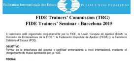 España.- SEMINARIO ENTRENADORES FIDE EN BARCELONA