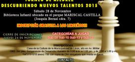 """Lima, Per.- Torneo de Ajedrez """"Descubriendo Nuevos Talentos"""", 28 nov 2015"""