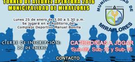 Lima, Per.- Torneo de Ajedrez Apertura 2016 Municipalidad de Miraflores, 25 ene