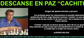 """Fallece Jorge Sánchez Cardona """"Cachito"""" en Potosí, Bolivia"""