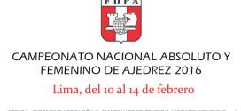 Perú.- Campeonato Nacional Absoluto y Femenino 2016