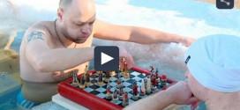 Rusia: Torneo de ajedrez en agua helada