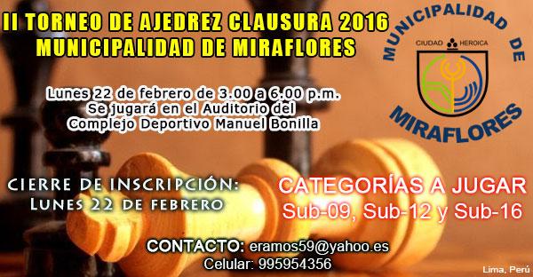 Torneo Municipalidad de Miraflores 2016