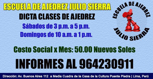 Escuela de Ajedrez Julio Sierra 2016