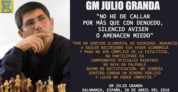 "Julio Granda: ""No he de callar por más que con denuedo, silencio avisen o amenacen miedo"""