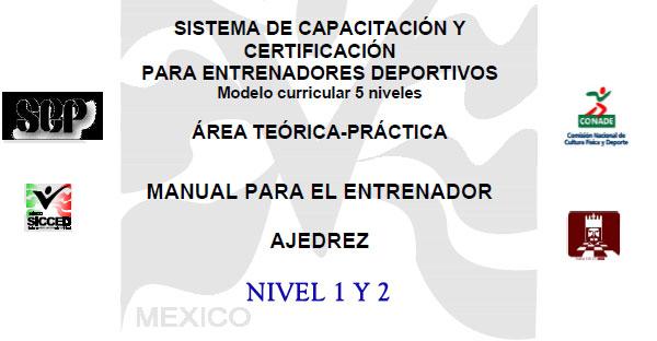 MANUAL PARA EL ENTRENADOR AJEDREZ Nivel 1 y 2