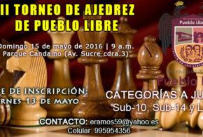 Lima,Per.- III Torneo de Ajedrez de Pueblo Libre, 15 may 2016
