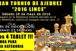 "Lima, Per.- GRAN TORNEO DE AJEDREZ ""2016 LINCE"", 28 may 2016"