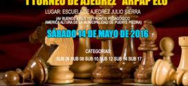 "Lima, Per.- I TORNEO DE AJEDREZ ""ARPAP ELO"", 14 may 2016"