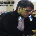 Emilio Códova del Perú gana su primer Continental