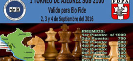 Perú.- I IRT Ciudad de Casma Sub 2100, 2 al 4 sep 2016