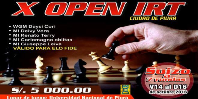 X OPEN IRT CIUDAD DE PIURA, 14 al 16 Oct 2016