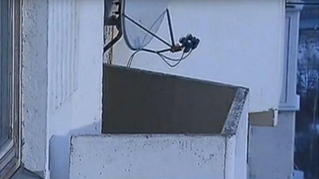 Según informó la televisión rusa, Yeliseyev murió al caer desde este balcón.