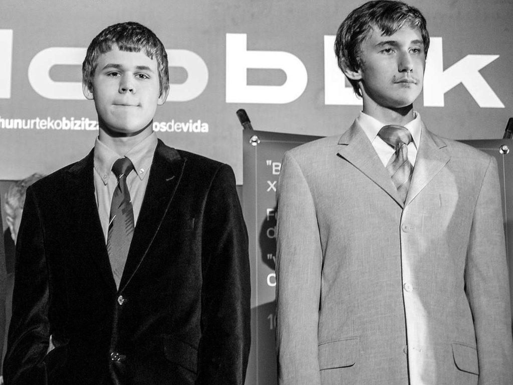 Magnus Carlsen y Sergey Karjakin en su época adolescente. David Llada