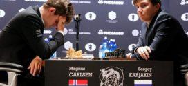 Mundial de Ajedrez – 5ta partida.- Carlsen sufre para acabar de nuevo tablas