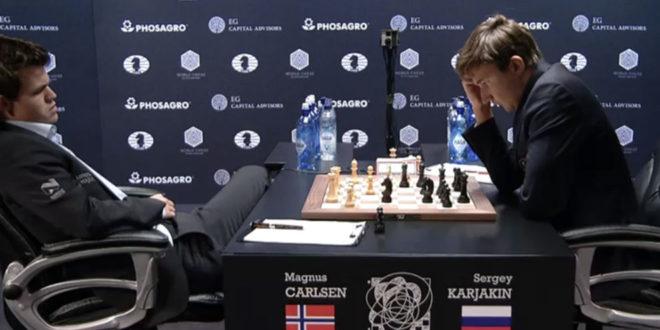 Octava partida: Karjakin aprovecha un grave error de Carlsen