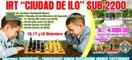 "Ilo, Per.- IRT ""Ciudad de Ilo 2016"" Sub 2200, 16 al 18 dic"