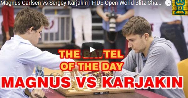 Karjakin se venga de Carlsen en Mundial Blitz + recuerdo Carlsen vs. Bill Gates