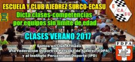 Lima, Per.- ESCUELA Y CLUB AJEDREZ SURCO-ECASU 2017