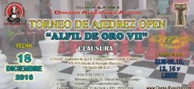 """Ilo, Per.- TORNEO DE AJEDREZ """"OPEN – ALFIL DE ORO VII"""", 18 dic 2016"""