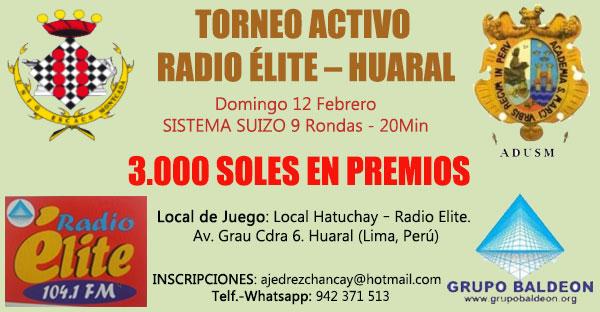 Huaral, Lima.- Torneo Activo Radio Elite, 12 feb 2017