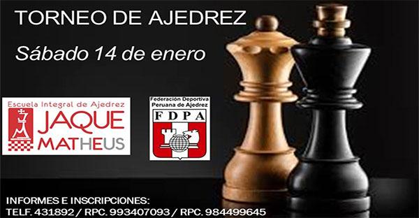"Cusco, Per.- XXII TORNEO ABSOLUTO DE AJEDREZ ""JAQUE MATHEUS"""