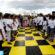 Nicaragua.- Niños forman tablero humano para practicar el ajedrez