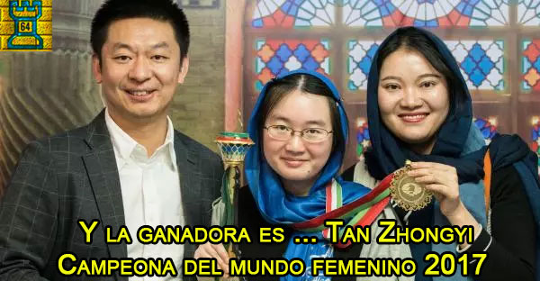 La china Tan Zhongyi se proclama campeona mundial de ajedrez