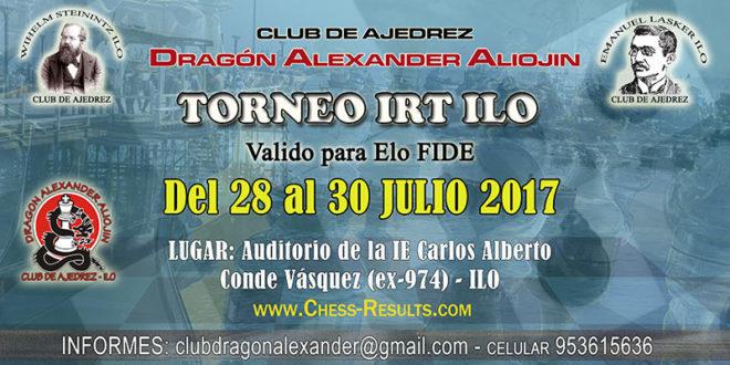 Perú.- Torneo de Ajedrez IRT Ilo, 28 al 30 jul 2017
