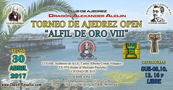 Ilo, Per.- Torneo de Ajedrez Open Alfil de Oro VIII, 30 abr 2017