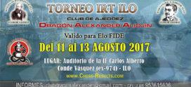 Perú.- Torneo de Ajedrez IRT Ilo, 11 al 13 ago 2017