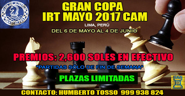 Lima, Per,- GRAN COPA  IRT MAYO 2017 CAM, 6 may al 4 jun