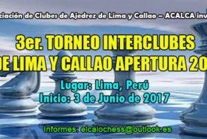 Lima, Per.- REUNIÓN DE DELEGADOS PARA EL INICIO DEL INTERCLUBES DE AJEDREZ APERTURA 2017