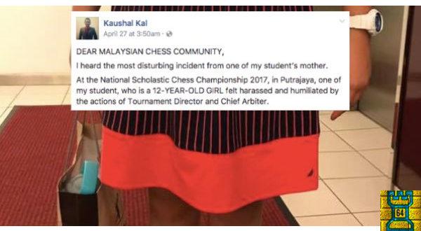 """Una niña de 12 años, """"humillada"""" en un torneo de ajedrez por llevar un vestido """"seductor"""""""