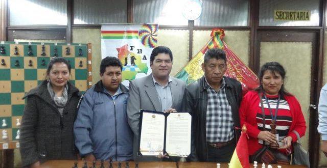 Senado Nacional distingue a la Federación Boliviana de Ajedrez