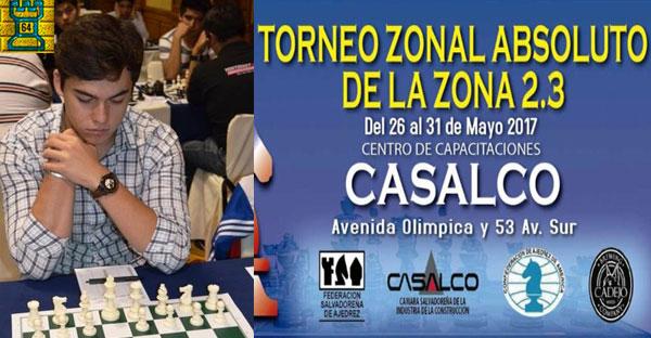 Colombiano MI Joshua Ruiz ganó el Zonal 2.3 en El Salvador