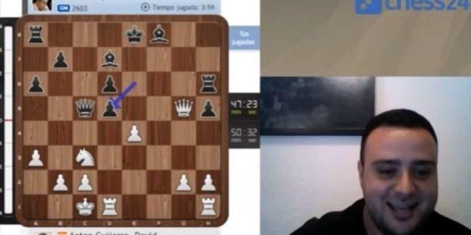 Un comentarista español de ajedrez enloquece con una movida maestra
