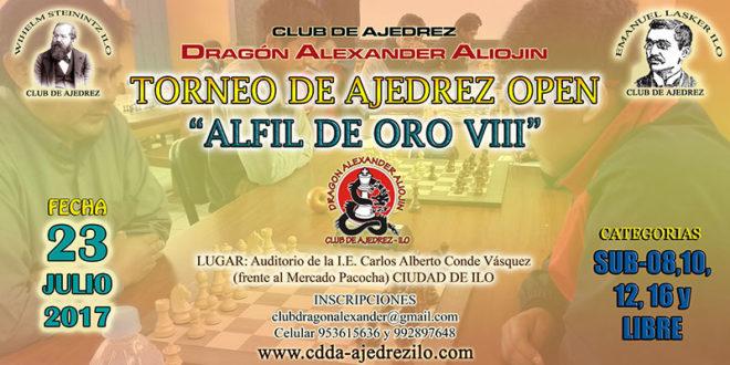 """Ilo, Per.- Torneo de Ajedrez """"Open Alfil de Oro"""", 23 jul 2017"""