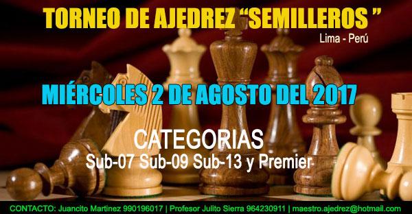"Lima, Per.- Torneo de Ajedrez ""SEMILLEROS"", 2 ago 2017"