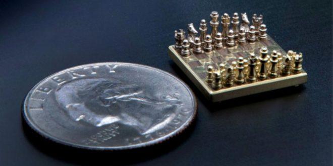 Creó el juego de ajedrez más pequeño del mundo