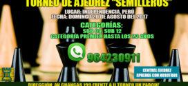 "Lima, Per.- Torneo de Ajedrez ""SEMILLEROS"", 20 ago 2017"