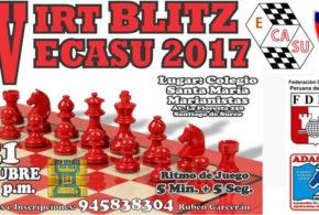 Lima, Per.- IV IRT BLITZ ESCUELA Y CLUB AJEDREZ SURCO-ECASU 2017, 21 oct