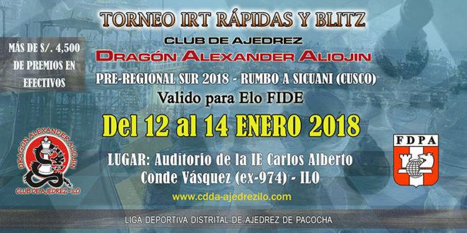 Ilo, Per.- IRT Pre-Regional Sur 2018 – Rumbo Sicuani, 12 al 14 ene