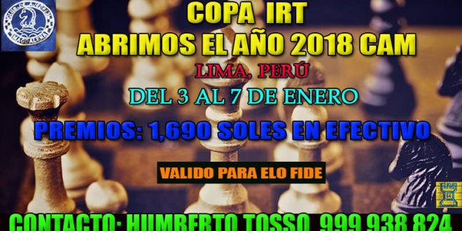 Lima, Per.- COPA IRT ABRIMOS EL AÑO 2018 CAM, 3 al 7 ene