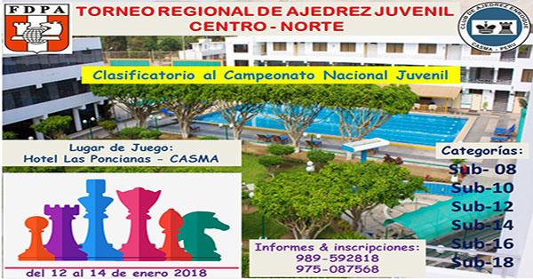 Casma, Per.- Campeonato Regional de Ajedrez Juvenil Centro-Norte, 12 al 14 ene 2018