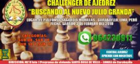 "Lima, Per.- Challenger de Ajedrez ""Buscando al Nuevo Julio Granda, 3 feb 2018"