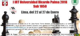 Lima, Per.- I IRT Universidad Ricardo Palma Sub 1850, 22 al 27 ene 2018