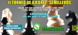 "Lima, Per.- II TORNEO DE AJEDREZ ""SEMILLEROS"", 24 feb 2018"